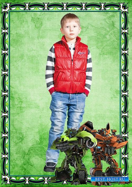 Фоторамка детская – Трансформеры. Мотоботы
