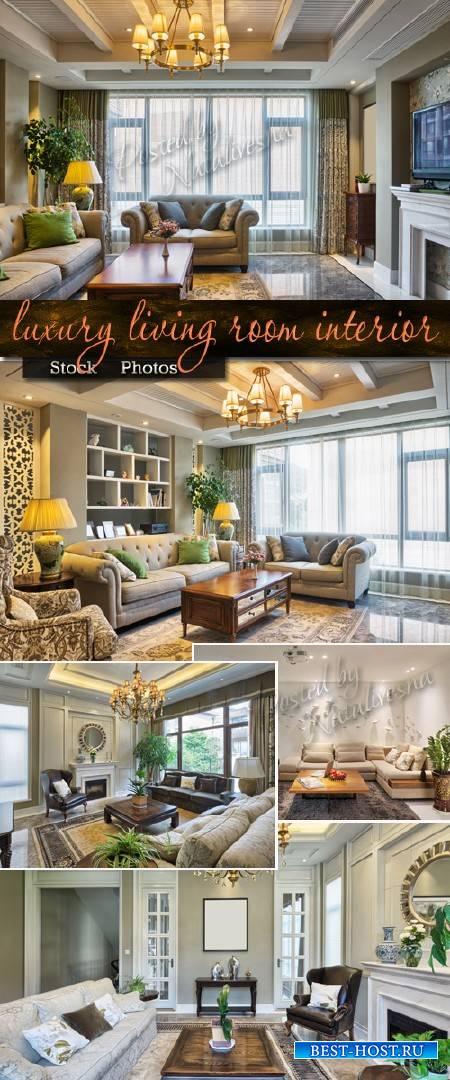 Роскошный интерьер гостиной с элементами декора – Stock photo