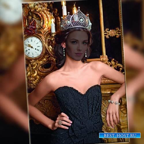 Photoshop шаблон - Королева в короне