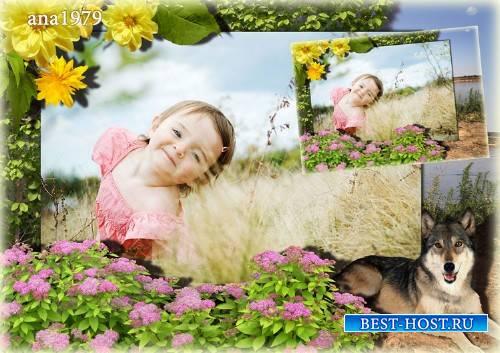 Рамка для фотошопа - Под охраной