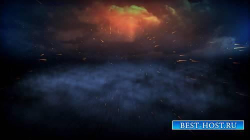 Футаж - Огненные метеориты / Spewing Fire HD