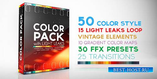 Color Pack with Light Leaks - Project for After Effects (Videohive)
