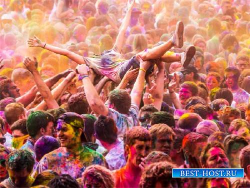 Шаблон для фотомонтажа - Праздник ярких красок