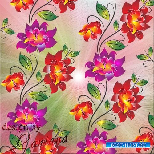 PSD исходник - Цветы расплескались волшебными красками