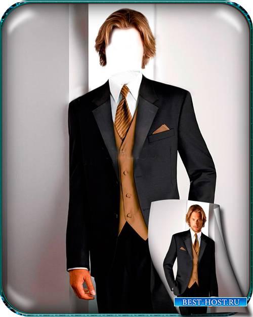 Фото шаблон - Парень в деловом костюме