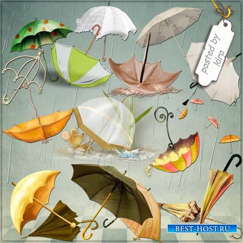 Клипарт в формате png - Зонты на любую погоду