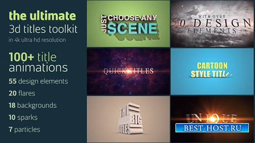 Ultimate 3D Titles Toolkit- Project for After Effects (Videohive)