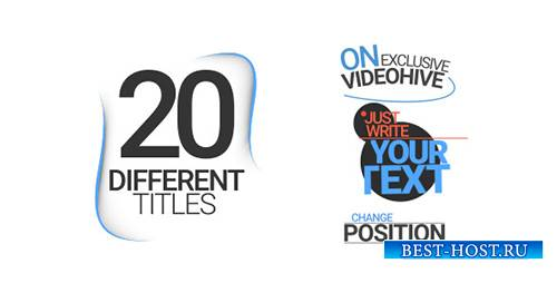 20 Different Titles - Project for After Effects (Videohive)