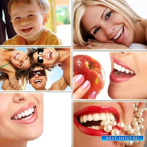 Клипарт растровый - Красивые улыбки