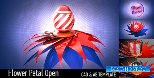 Flower Petal Open - Cinema 4D Templates and AE (Videohive)