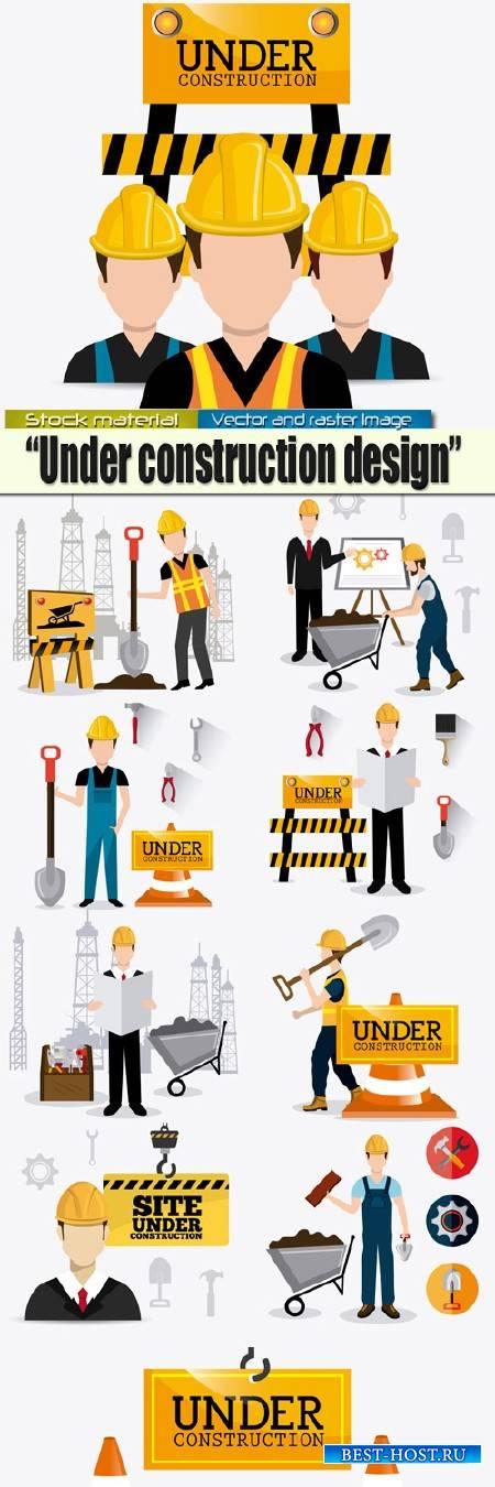 Строительные работы  - Инфографика в Векторе