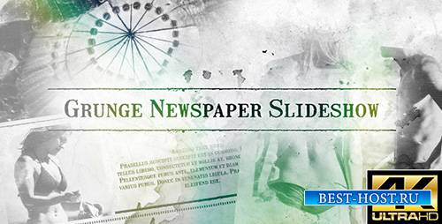 Grunge Newspaper Slideshow - Project for After Effects (Videohive)