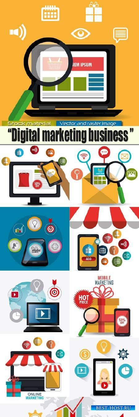 Инфо - дизайн в Векторе - Маркетинг и Бизнес