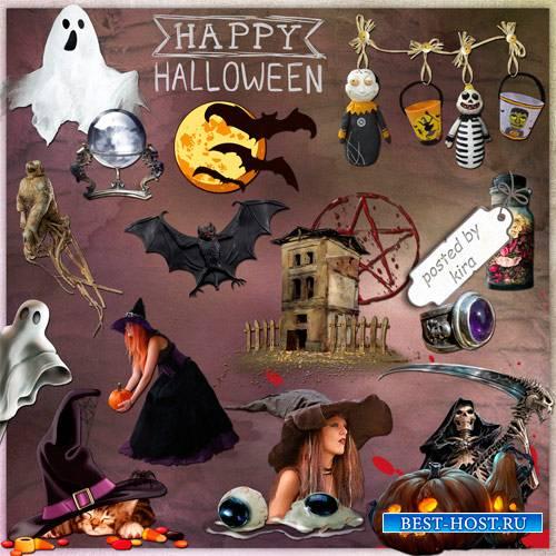 Клипарт в png - Хэллоуин и атрибуты к празднику
