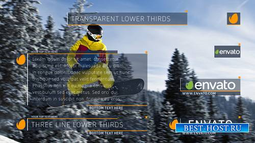 Transparent Lower Thirds - Project for After Effects (Videohive)
