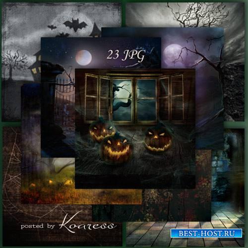 Подборка растровых фонов для дизайна - Ночь на Хэллоуин
