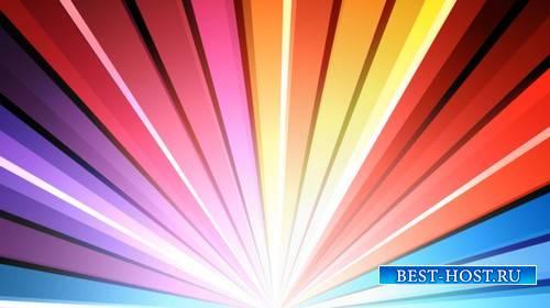 Футаж - Разноцветный веер