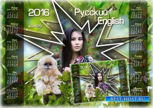 Календарь-рамка на 2016 год - Звезда