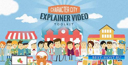 Mega Explainer toolkit : Character city - Project for After Effects (Videoh ...