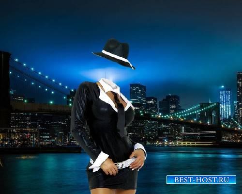 Шаблон для девушек - Ночной Нью-Йорк