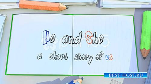 Love Story Cartoon Album - Project for After Effects (Pond5)