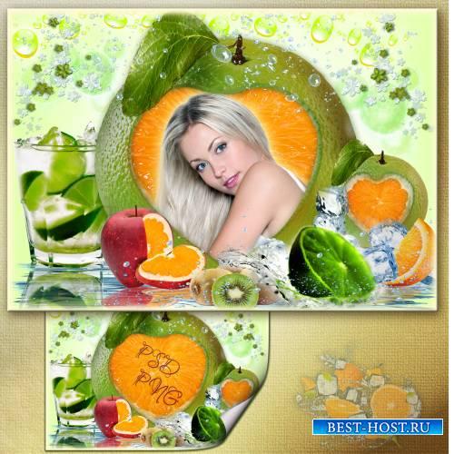 Рамка для фото - Лёд и фрукты 2