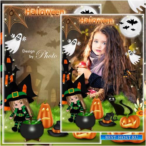 Детская рамка для фото - Хэллоуин