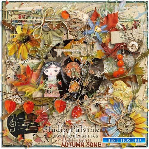 Осенний скрап-набор - Время для осенней песни