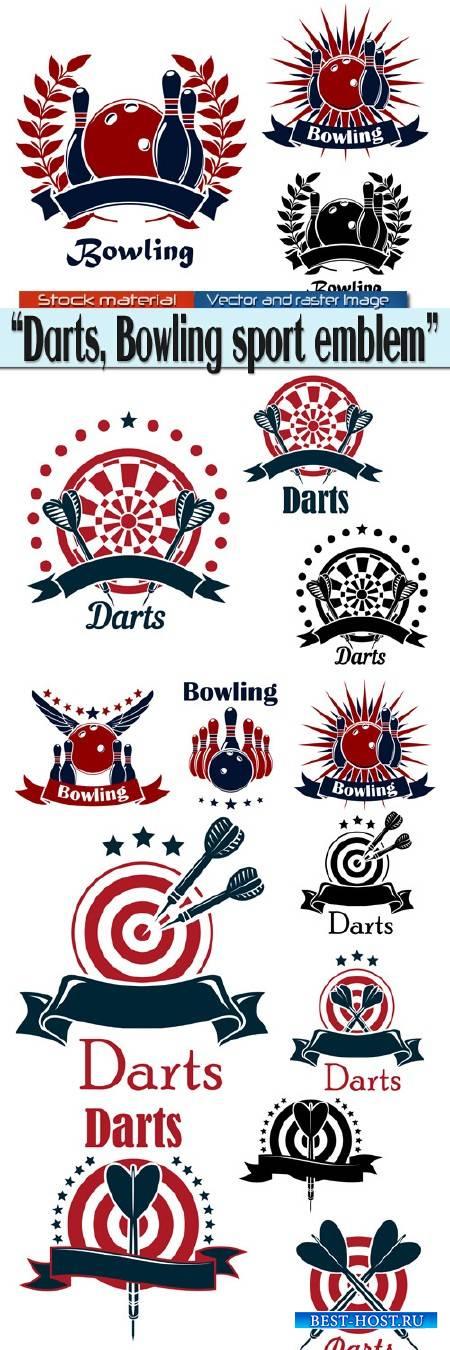 Darts, Bowling sport emblem