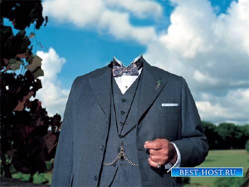 Шаблон мужской - В костюме 30-х годов