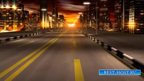 Футаж - Движение по ночному городу