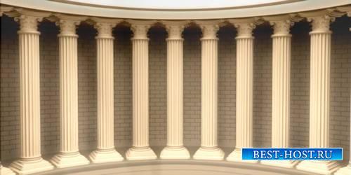 Футаж с колоннами в греческом стиле