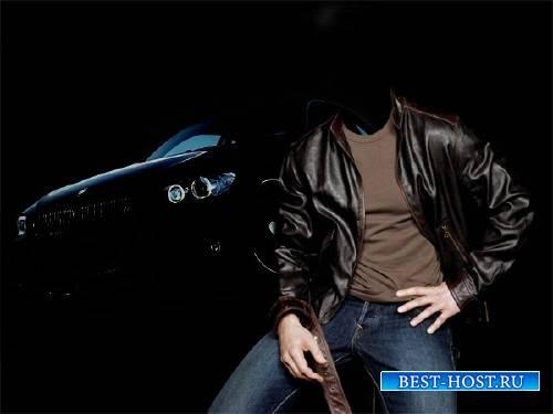 Шаблон для фото - Коллаж с BMW