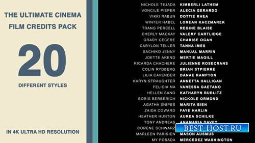 20 Cinema Film Credits Pack - Project for After Effects (Videohive)