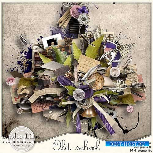 Школьный винтажный скрап-набор - Старинная школа