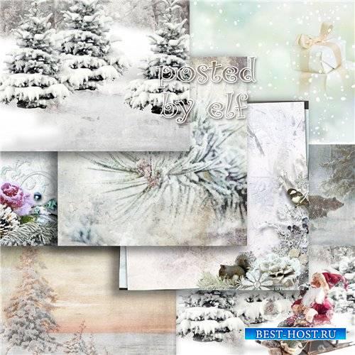 Зимние фоны для фотошопа