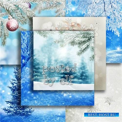 Подборка фонов для дизайна - Здравствуй, зимушка-зима