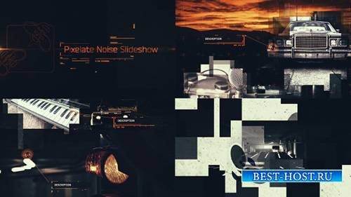 Pixelate Noise Slideshow - Project for After Effects (Videohive)