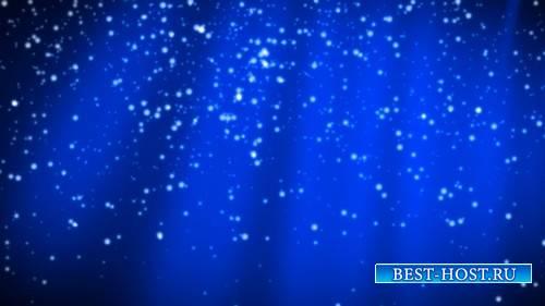 Футаж - Падающий снег на голубом фоне