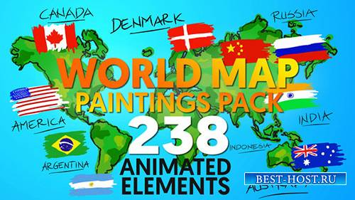 World Map Paintings Pack - Project for After Effects (Videohive)