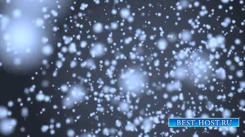 Видео футаж - Снегопад
