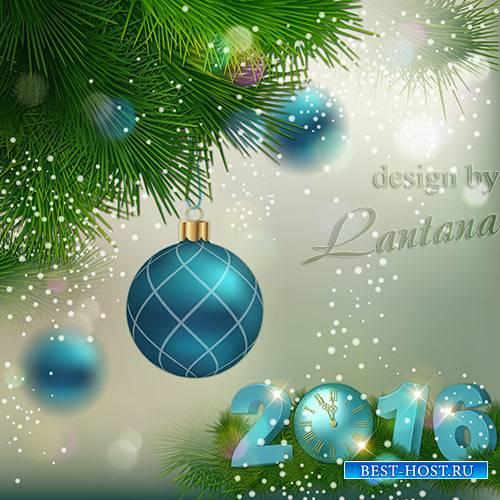 PSD исходник - Волшебный праздник новогодний
