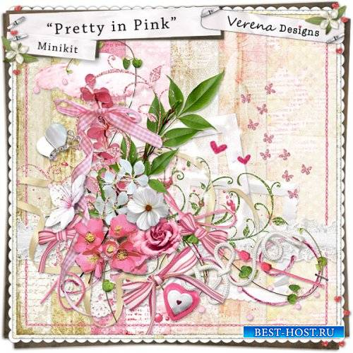 Романтический скрап-набор - Милашка в розовом