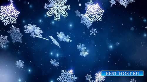 Видео футаж - Снежная ночь