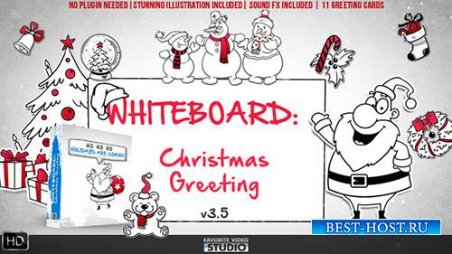 Holidays Whiteboard Greetings Pack - Project for After Effects (Videohive)
