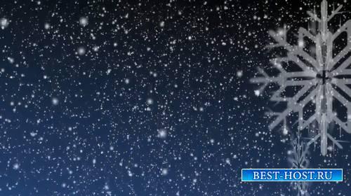 Футаж с падающим снежком и снежинкой