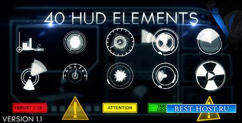 Hud Elements 40 - Project for After Effects (Videohive)