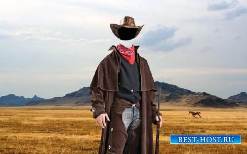 Шаблон для мужчин - Дикий запад
