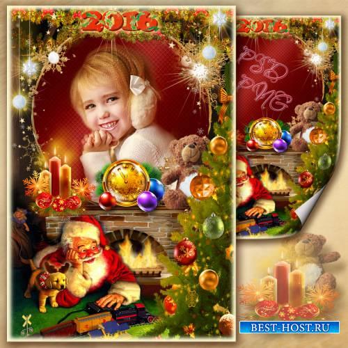 Рамка для фото - Новогодняя сказка из детства