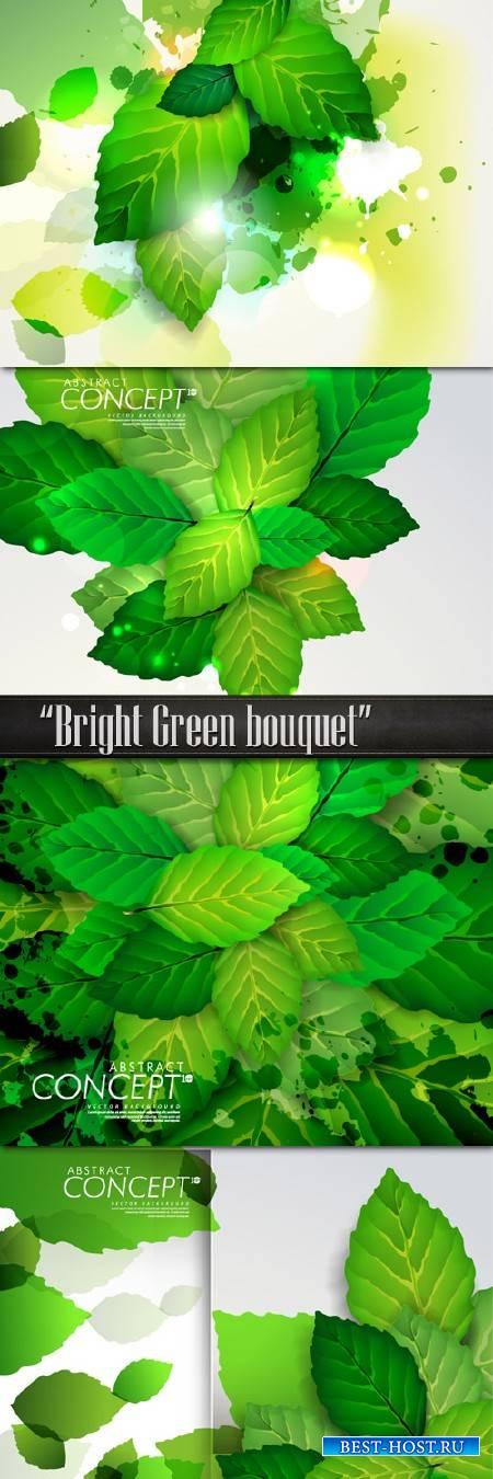 Яркий зеленый букет из нежных листьев